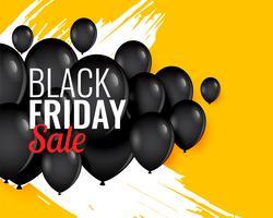 svart fredag ballong bakgrund till salu och befordran