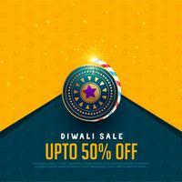 verkoop en aanbieding achtergrond voor diwali festival