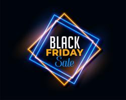 abstrakter schwarzer Freitag-Hintergrund im Neonlichteffekt