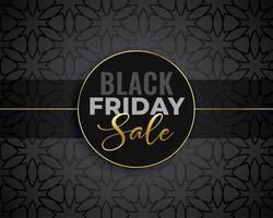 sfondo nero di vendita venerdì fantastico