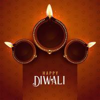 Diwali Festival Diya Hintergrund Design-Vorlage