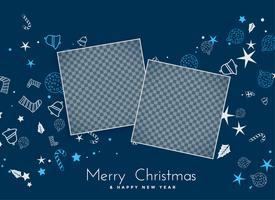 Fondo feliz Navidad con espacio de imagen
