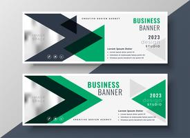 abstract geometric triangle business banner template