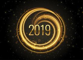 Fondo de efectos de luz de año nuevo 2019