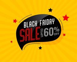 abstraktes schwarzes Freitag-Verkaufschat-Blasenplakat
