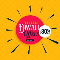 Offres de diwali élégantes et conception de bannières de vente