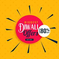 stylish diwali offers and sale banner design