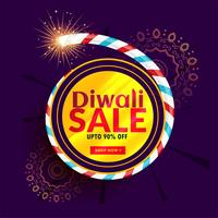 diwali sale poster design with cracker
