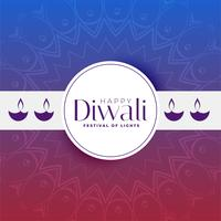 happy diwali greeting banner design template