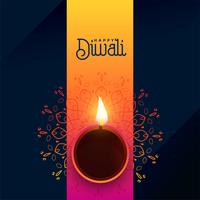 lovely diya background for diwali festival