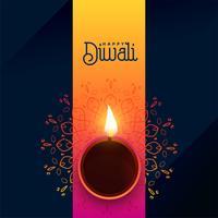 lovely diya background for diwali festival