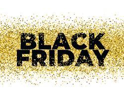 svart fredag backgroun med gyllene partiklar