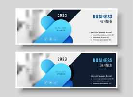 abstrakte Business Banner Design-Set