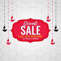 Diwali säsong försäljning bakgrund med hängande diya