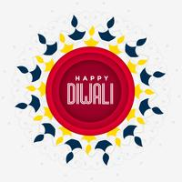 festive greeting design for happy diwali