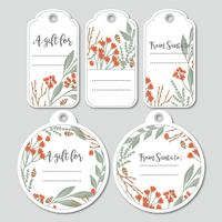 Vector Holiday Gift Tags