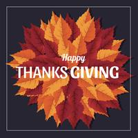 Papercraft Thanks Giving Vector Design