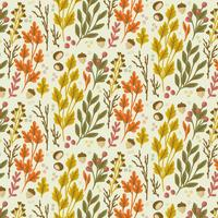 Vector Hand Drawn Fall Pattern