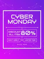 Funky Cyber Monday Social Media Post Vectors