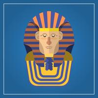 Flat Modern Pharaoh Character Vector Illustration