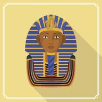 Flat Pharaoh Figure Vector Illustration