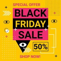 Black Friday Sale Banner Vector
