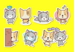 Cat and dog stickers collection
