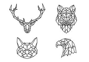 Geometric Line Animals Shape vector
