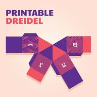 printable dreidel vector