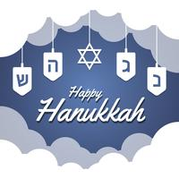 Hanukkah Blue Background