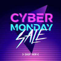 Modello di media sociali di Cyber Monday Electronic Dance. vettore