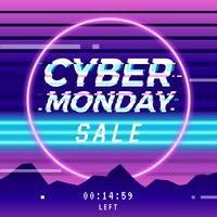 Cyber ​​Monday Vaporwave Glitch Social Media Template