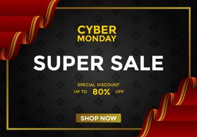 Cyber Monday Super Sale Social Media Post Vector