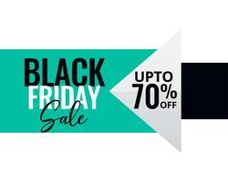 bannière de vente vendredi noir style minimal