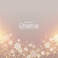 Fondo de saludo de feliz Navidad feliz copos de nieve