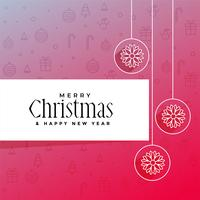 elegant merry christmas greeting design