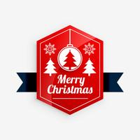 merry christmas red label design