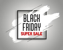 stylish black friday sale banner with ink splash