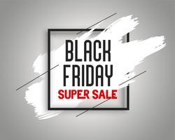 stylish black friday sale banner with ink splash