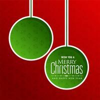 Joyeux Noël voeux avec espace de texte