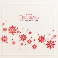 awesome red snowflakes merry christmas background