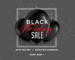 banner di vendita venerdì nero fantastico nel buio