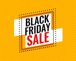 stylish black friday sale frame on yellow background
