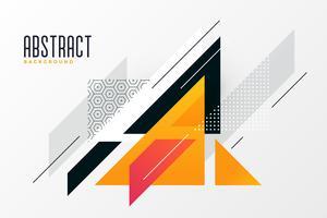 abstrakte Dreiecke gestalten Memphis-Hintergrund