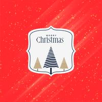 merry christmas red creative greeting design