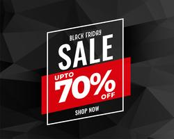 abstrakt svart fredag försäljning banner design