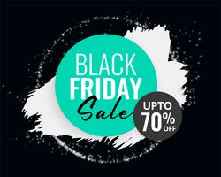 abstract black friday sale background with ink splash