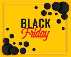 conception abstraite de la bannière jaune vendredi noir