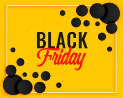abstract black friday yellow banner design