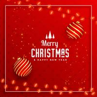 beautiful merry christmas decorative festival greeting